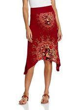 DESIGUAL falda Ceci Rep gonna donna rosso XL 100% viscosa
