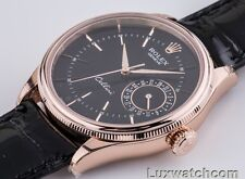 ROLEX CELLINI DATE 18K EVEROSE GOLD 50515 MENS NEW WATCH 2015