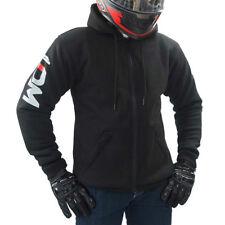LDM Motorcycle Hoodie Made W/ Black Kevlar Motorbike Hoody with CE Armour