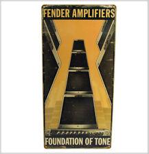 Plaque FENDER guitare AMPLIFIER FOUNDATION OF TONE GUITAR Metal Plate AMP AMPLI