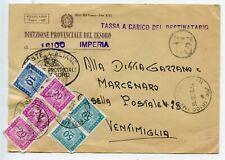 DIREZIONE PROVENCIALE DEL TESORO  POSTE ITALIENNE / ITALIE / VENTIMIGLIA / TAXE