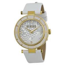Versus by Versace Women's SP8070014 White Leather Swarovski Crystals Watch