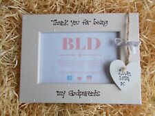 Personalised Thank You For Being My Godparents Photo Picture Frame Keepsake Gift