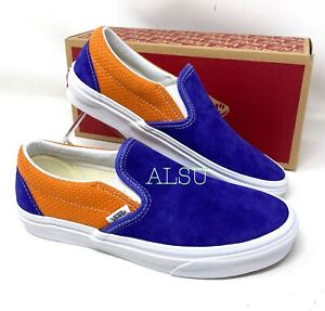 VANS Classic Slip-On Canvas Suede Women's Sneakers Blue Apricot VN0A4U38WTJ