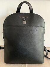 Michael Kors ADELE Large Leather Backpack BLACK NEW