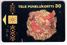 EUROPE  TELECARTE / PHONECARD .. FINLANDE 30MK GEM1A ART MUSIQUE EM CHIP/PUCE