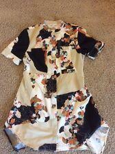 3.1 Phillip Lim Target Asian Floral Print Mini Dress Zip Front (Women's Large)