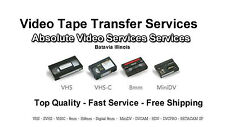 Video Tape Transfer Service to DVD & Digital File VHS 8MM MiniDV  50 Tape Deal