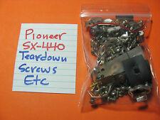 TEARDOWN SCREWS PIONEER SX-440 RECEIVER OEM SCREWS HARDWARE FROM TEARDOW