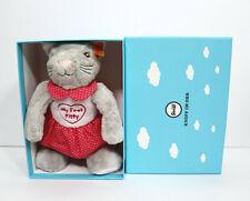 Steiff My First Kitty Katze Gray In Gift Box Stuffed Animal Plush Toy #241031
