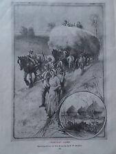 Original 1904 Print HARVEST HOME by FW BURTON Farming B/W Book Illustration