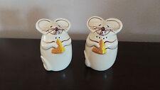 Ceramic Mouse Chadwick Like Salt & Pepper Shakers