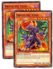 Set 2X DRAGO DEL VIZIO - Vice Dragon SDDC YS15 Comune in Italiano YUGIOH