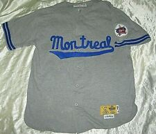 Jackie Robinson 1945 Montreal Royals Men's Large Embroidered Jersey Ebbets Field