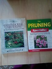 GREENHOUSE GARDENING BOOK & PRUNING TECHNIQUES BOOK