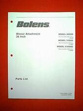 "BOLENS TRACTOR 36"" MOWER DECK ATTACHMENT MODEL 30036S 31036S 31036SE PART MANUAL"