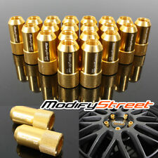 20 PIECES GOLD M12 X 1.5MM THREAD JDM RACING WHEEL LUG NUTS OPEN END RIM TUNER