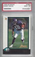 1998 Bowman football card #182 Randy Moss, Minnesota Vikings PSA 9 Rookie