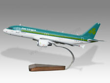 Airbus A320 Aer Lingus Solid Mahogany Wood Handcrafted Display Airplane Model