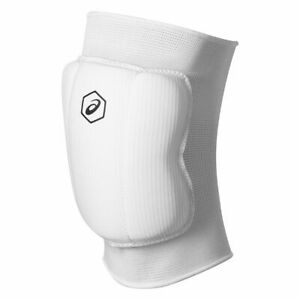 Volleyball Knee Support ASICS BASIC KNEE PADS - PAIR (White)