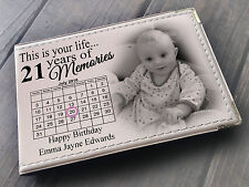 """Personalised guestbook photo album 36 x 6x4"""" photos 21st Birthday party present"""