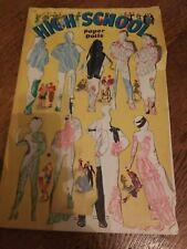 High School Paper Dolls, Merrill Publishing Co, 1940, Uncut Clothes, 18 Dolls