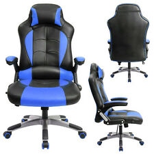 Blue Gaming Chair High-back Computer Chair Ergonomic Design Racing Chair RC1