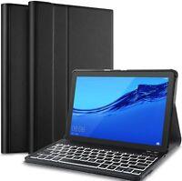 "Slim PU Case with Detachable Wireless Keyboard for Huawei Mediapad T5 10 10.1"""