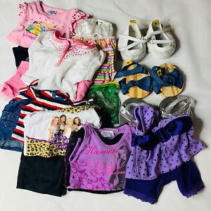 Build A Bear Clothes Girls Lot Shoes Bows Panties Dresses Shirts Blouses BAB 20+