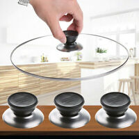 1 Set Replacement Kitchen Cookware Pot Pan Lid Cover Grip Knob Handle Stainless