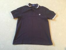 Mens Fred Perry Twin Tipped Polo Top Size Large