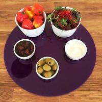 Round Serving Mats, Centerpiece / Table Protectors in Purple Acrylic