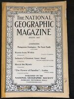 1917-08 AUGUST NATIONAL GEOGRAPHIC RUSSIA-MECCA-ARABIA-WWI-STEEL-YEMEN-BEARS SUP