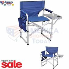 Heavy Duty Oversized Folding Camping Lounge Director Chair Outdoor Portable