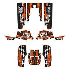 Yamaha Banshee 350 graphics full coverage custom kit #3500 Orange