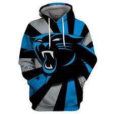 Carolina Panthers Hoodies Sweatshirt Men's Casual Pullover Jacket Coat Fans Gift