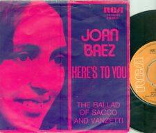 "JOAN BAEZ - HERE'S  TO YOU ( DUTCH RCA  74-16080) 7""PS   1971"