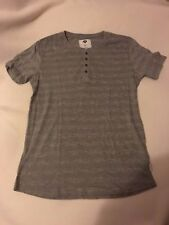 1991 by Cotton on knit NWOT M light /heather gray henley style crewneck
