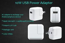 10W USB Wall AC Charger Adapter iPhone 4 5 6 6s / iPad 2 3 4 Air/Mini/ iPods etc