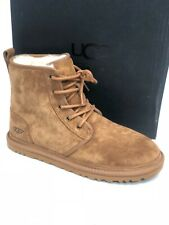 UGG Australia Men's Harkley Chestnut Suede Sheepskin Boots 1016472 Black