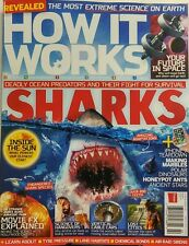 How It Works UK Feb 2017 Sharks Deadly Ocean Predators Survival FREE SHIPPING sb