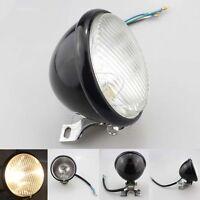 "Black 5"" Bulb Headlight Head Lamp For Harley Chopper Touring Honda Motorcycle"