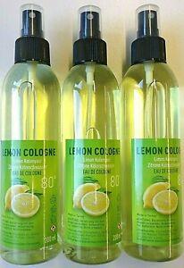 Limon Kolonyasi 80° Kölnisch Wasser Kolonya  Zitrone Duftwasser Spray 3x 200 ml