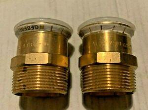 2no 42mm-11/2 inch. Geberit Mapress Copper Male Adaptor for Copper