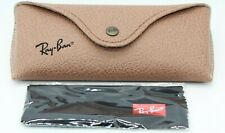 NEW RAY-BAN EYEGLASSES SUNGLASSES GLASSES BROWN LEATHER CASE BLACK CLOTH