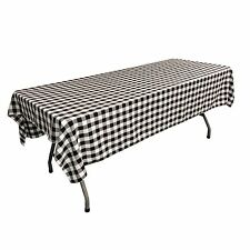 LA Linen Polyester Checkered 60 by 84-Inch Rectangular Tablecloth. Made in USA