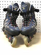 K2 Carbon Ascent- Mens Sz 10 Inline Skates Roller Blades Soft Boot Blue
