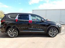 fits 2019-2020 Hyundai Santa Fe 6Pc Chrome Pillar Post Stainless Steel Door Trim