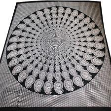 couvre-lit couverture motif cachemire Mandala Canapé jeté coton noir blanc