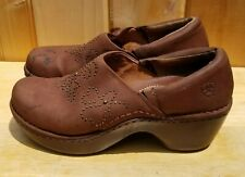 Ariat Women's Western Nubuck Strathmore Clog Mules Brown 21203 Size 9B READ